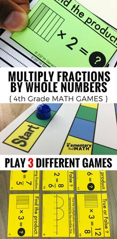 Multiplying fractions by whole numbers games for your 4th grade students are a fun alternative to worksheets. Check out these 3 math games that are great for your 4th grade math centers.