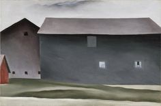 "#Architecture in #Art on #Pinterest  ""Lake George Barns by Georgia O'Keeffe"""