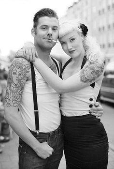 tattooed couple | Tumblr