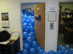 Boss Office Filled With Balloons Funny Prank At Work