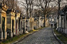Visitors from all over the world flock to Père Lachaise Cemetery to pay their final respects to the great artists buried there, including Jim Morrison, Oscar Wilde, and Édith Piaf.   - HouseBeautiful.com