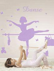 Les Contemplatives, Sticker fille - Lou Petite danseuse - Autocollants muraux par Commoi
