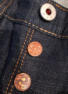 Great shank details on the Bzen heritage raw selvage.