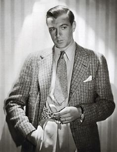 No one before or since, epitomizes elegance and style like the legendary Gary Cooper. No, Cary Grant doesn't even come close. He was a fashion protege of Gary Cooper without a doubt– Gary Cooper, Retro Mode, Mode Vintage, Vintage Men, Vintage Fashion, Hollywood Men, Golden Age Of Hollywood, Classic Hollywood, 1950s Mens Wear