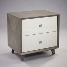 Bedside Tables: Stock Oslo Bedside Silver Rose / French Grey