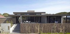 "Contrasting Merger Of Fabrics Defining Bellarine Peninsula Area in Australia , Architectural company Inarc Architects completed the design for Bellarine Peninsula House, a contemporary residence located in Barwon Heads, Australia. The architects briefly describe the project as a  ""single level home with double height central livi , Admin ,..."