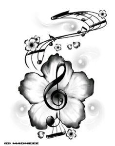 16 Ideas tattoo music design treble clef for 2019 Band Tattoos, Knot Tattoo, Music Tattoos, Flower Tattoos, Body Art Tattoos, Cool Tattoos, Tatoos, Tattoo Lyrics, Key Tattoos