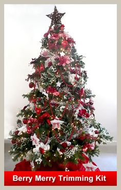 Christmas tree ideas - red themes and and pink themes