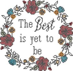 Round Floral Border Cross Stitch Pattern with intials, Wedding Cross Stitch Pattern, The Best is Yet to Be Cross Stitch Pattern, Florals by oneofakindbabydesign on Etsy Celtic Cross Stitch, Cross Stitch Tree, Cross Stitch Borders, Modern Cross Stitch, Counted Cross Stitch Patterns, Cross Stitch Designs, Cross Stitch Embroidery, Embroidery Patterns, Embroidery Art