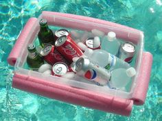 15 Awesome DIY Backyard Projects - Noodle Beverage Boat.