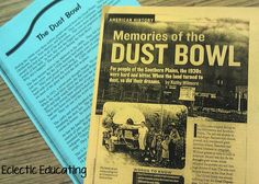 Summary Webs using the topic Dust Bowl