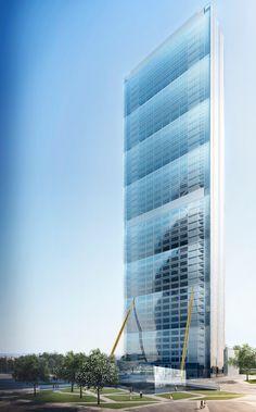 torre Arata Isozaki sarà uno tra gli edifici più alti d'Italia. 50 piani e in grado di ospitare fino a 3.800 persone. Direttamente connessa con la piazza centrale di CityLife - Milano.