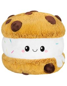 Squishable Chocolate Chip Cookie Ice Cream Sandwich Stuffed Toy