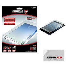 Rebelite Indestructible Screen Protector for iPad Air with Military Grade Shock, Scratch, & Break Resistant Material