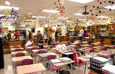 Chemistry molecules ceiling mobiles