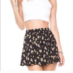 For Sale: Brandy Melville Floral Skirt  for $28