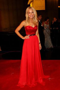 AUSTRALIAN TV STARS 2012 LOGIES RED CARPET   Carrie Bickmore - ON TREND - Sheer