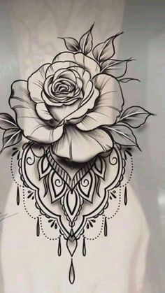 Fantastic (no title - Tattoo Zeichnungen - Rose Tattoo Forearm, Flower Wrist Tattoos, Lace Tattoo, Tattoo Black, Tattoo Thigh, Mandala Tattoo Design, Flower Tattoo Designs, Mandala Wrist Tattoo, Body Art Tattoos