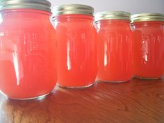 Sunshine Rhubarb Juice Concentrate Recipe adapted from a Bernardin recipe, from Complete Book of Home Preserving Yield: 4 pints 12 cups sliced rhubarb, 1 inch slices 4 cups water Grated zest and ju… Rhubarb Alcohol Recipes, Rhubarb Canning Recipes, Rhubarb Slush Recipe, Rhubarb Water, Rhubarb Syrup, Rhubarb Pie, Rhubarb Preserves, Rhubarb Dishes, Drink