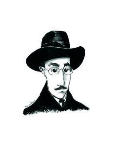 Caricatura de Fernando Pessoa