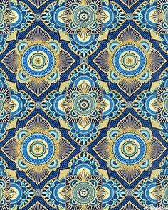 Istanbul - Turkish Delight - Cobalt Blue/Gold