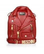 Moschino Backpack Leatherjacket Red  at Fashionette