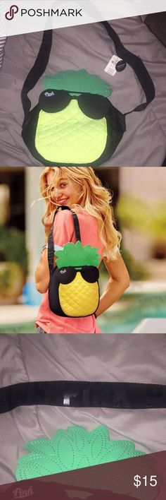 NWT Victoria's Secret PINK Pineapple Cooler New with tags, never used PINK Victoria's Secret Bags Travel Bags