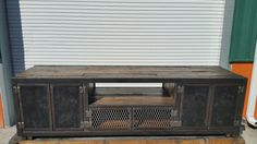 The James industrial console #057 by Industrial Evolution Furniture Co.