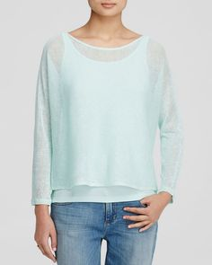 Eileen Fisher Open Knit Linen Sweater