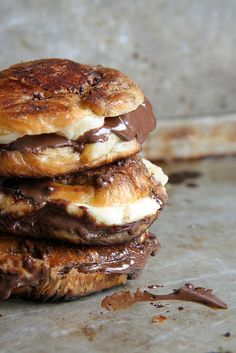 Brown Butter Fried Nutella Banana Croissant Sandwiches by Heather Christo, via Flickr