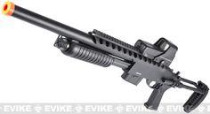 Matrix Full Metal Full Size Custom M870 Tactical Airsoft Pump Shotgun by A