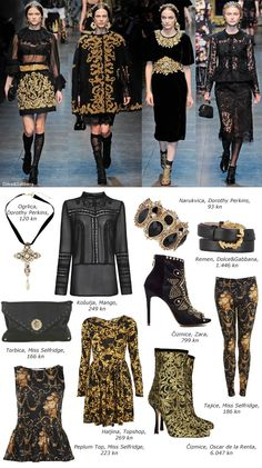 stylbook, baroque, black and gold
