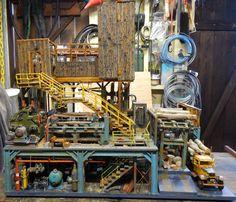 Side of saw mill diorama by Leonard Hagen