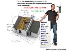 Les fermetures de votre maison et de votre commerce sont che SOS SERRURIER consultez nos promos http://www.sosserrurier.com/promotion-serrurerie.php