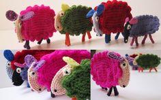 Crochet Sheep Pattern Tutorial PDF.  via Etsy.