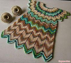 and more :) Crochet and Knitting Crochet Dress Girl, Baby Girl Crochet, Crochet Poncho, Crochet Clothes, Crochet Toddler, Crochet For Kids, Easy Crochet, Crochet Summer, Baby Summer Dresses