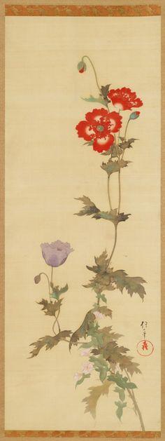 VMFA Sakai Hoitsu Poppies and Morning Glories