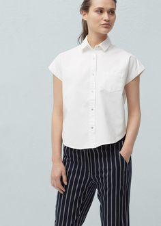 Cotton shirt -  Women   MANGO USA