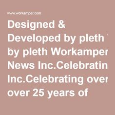 Designed Developed By Pleth Workamper News IncCelebrating Over 25 Years Of Helping Great