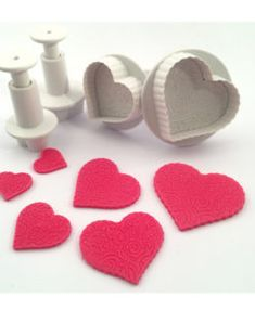 Ausstecher - Herzen Marzipan, Arabesque, Cupcakes, Heart Decorations, Baby Shoes, How To Make, Images, Garage, Heart Shapes