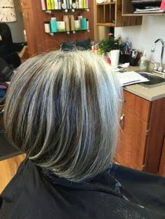 grey hair with highlights and lowlights