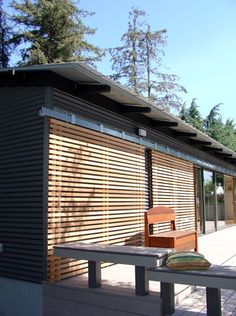 Sliding wood slats can make glass doors more secure during the off season