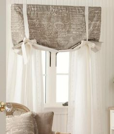 Parisian Note Lined Tie Up Valance