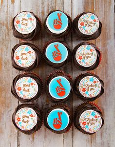 We have a range of awesome good luck gifts online, but these are by far our tastiest! Say good luck in a sweet way by sending these tasty chocolate cupcakes! Pink Happy Birthday, Happy Birthday Candles, Happy Birthday Balloons, Cupcakes Delivered, 21 Balloons, Cupcakes Online, Good Luck Gifts, Cupcake Bakery, Lucky To Have You