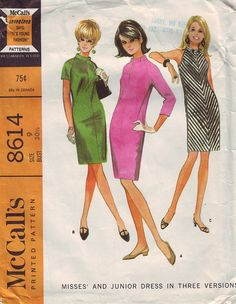 1966 Misses' and Junior Dress Pattern in by TheVintageCat1920