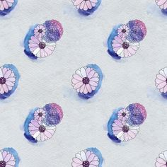 Seamless Floral Pattern With Daisy Flowers