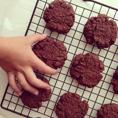 Chewy Flourless Chocolate Chocolate Chip Cookies (grain/dairy/egg/soy/gluten/refined sugar free, vegan, paleo, nut free option) - Feed Me Rachel
