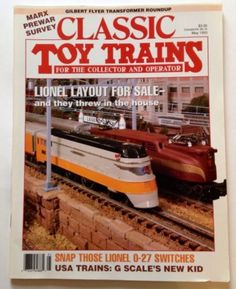 Classic Toy Trains Magazine May 1993 Lionel Vol 6 No 3 Issue Gilbert Flyer Marx