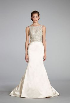 11 Exquisite Wedding Dresses from Lazaro | OneWed think this dress is the one having a cermony may 25!