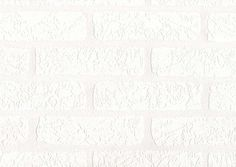 White Paintable Embossed Wallpaper | Paintable White Blown Brick Effect